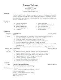 Resume Hair Stylist Hairdresser Resume Sample Arzamas