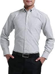 Oxford Shirt Size Chart Chuangji Mens Striped Oxford Shirt At Amazon Mens Clothing