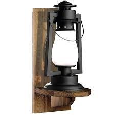 wall mounted lantern hooks rustic lighting made to order in pioneer series rustic wood wall mount