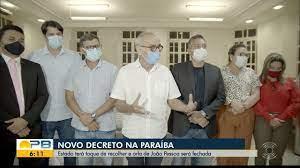 Bom Dia Paraíba | Paraíba tem toque de recolher, de acordo com novo decreto  do governo do estado