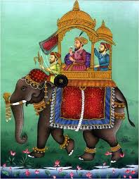 the mughal emperors introduced their own style of paintings with persian inspiration and added themes colors and forms
