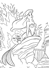 Small Picture Princesse Ariel in the sea coloring pages for girls printable free