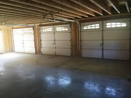 Image Walls 24x36 Bay Garage Inside Amish Barn Company Built Onsite Custom Amish Garages In Oneonta Ny Amish Barn Company