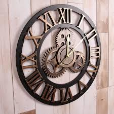 80cm large wall clock vintage rustic