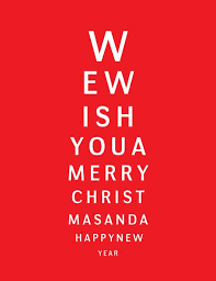 Eye Chart Christmas Cards I Bought This For My Fil The Eye