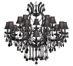 full size of lighting lovely black chandelier with crystals 13 amusing maria theresa trimmed chandeliers crystal