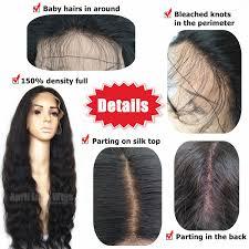 Malaysia Virgin Human Hair 150 Density Silk Top Glueless