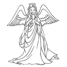 Angel Coloring Pages Printable Color Bros