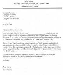 Cover Letter Examples Canada | Cover Letter Templates for Sample ...