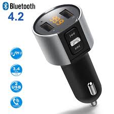 <b>Bluetooth</b> FM Transmitter <b>Wireless</b> In <b>Car</b> MP3 Player <b>V4</b>.<b>2 Bluetooth</b> ...