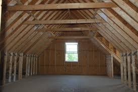 Don't neglect to be observant of construction features in contemporary  construction such as this  unfinished attic