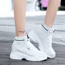 WADNASO <b>Fly knitting Women</b> Casual Shoes Trainers High Top ...