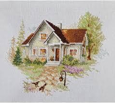 """<b>Набор для вышивания</b> крестом <b>Алиса</b> """"Июльский домик"""", 18 х 14 см"""