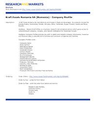 profile template word format company profile template word format