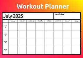 Workout Planner Templates Create A Personalized Workout Plan