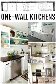 One Wall Kitchen Designs With An Island Plans Best Design Ideas