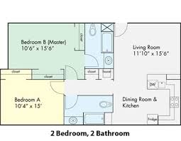 uc davis student housing  sha   the colleges at le ruediagram  floor plan of a  bedroom apartment at the colleges at la rue apartments