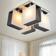 stylish lighting. Stylish 4-Light Glass Shade Rectangular Ceiling Lights Lighting A