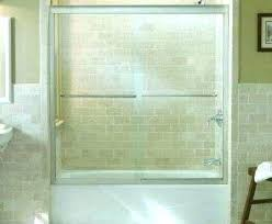 glass sliding tub doors without bottom track