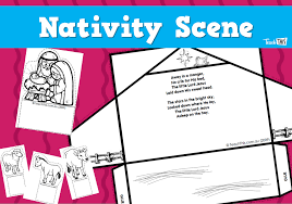 Nativity Scene - Christmas Teacher Resources, Worksheets and ...