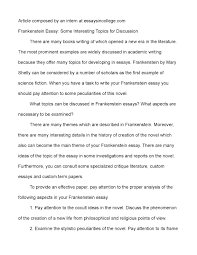 discussion essays writing a discussion essay oglasi sample of calamatildecopyo frankenstein essay some interesting topics for discussion