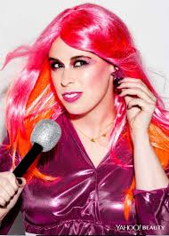 yahoo beauty editor dressed up as jem for halloween photo ben ritter makeup keri blair for mac hair nate rosenkranz using alterna hair care at