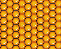 Beehive Pattern Mesmerizing Vector Illustration Seamless Honeycomb Background Pattern Shiny