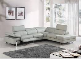 modern leather sofa recliner. Delighful Modern Sofa Beige Leather Sofa Modern Retractable Font  White Color Stainless Legs And Recliner R