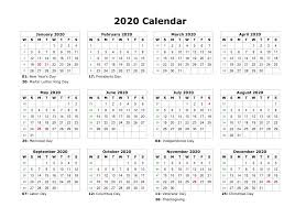 Editable 2020 Monthly Calendar Free Monthly Calendar Creator 2020 Printable Calendar In