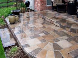 large stone pavers paver stones over concrete slab laying