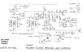 classic schematics ssl 4000e talkback compressor