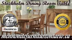 Mennonite Bedroom Furniture Double Pedestal Solid Wood Mennonite Stockholm Dining Room Table