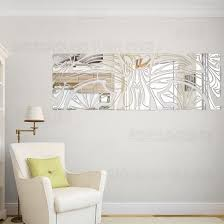 diy decorative totem 3d mirror wall