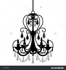 clip art simple chandelier silhouette