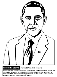 president obama coloring page