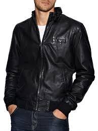 mens leather er jacket