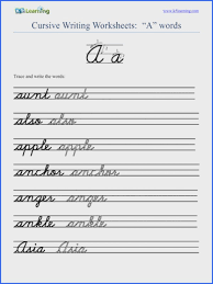Printable Cursive Worksheets | Rosenvoile.com