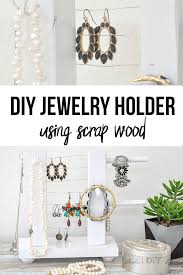 collage of diy jewelry holder with text overlay