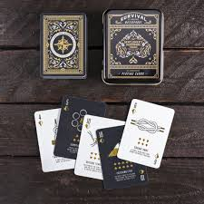 The tools they include are cheap and useless. Survival Cards Waterproof Playing Cards With Survival Tips