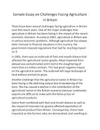 sample essay on challenges facing agriculture in britain sample essay on challenges facing agriculture in britain there have been several challenges facing agriculture in