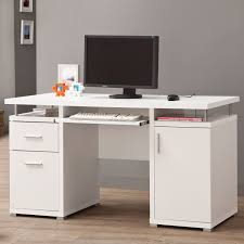 Hidden Printer Cabinet White Desk With File Drawer