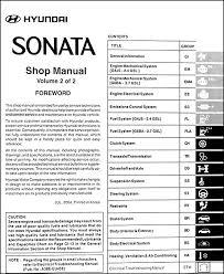 2005 hyundai sonata repair shop manual original 2 volume set 2006 hyundai sonata radio wire colors at 2006 Hyundai Sonata Radio Wiring Diagram