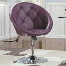 Swivel Living Room Chairs Contemporary Dining Chairs And Bar Stools Contemporary Round Tufted Purple