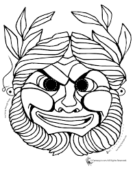 A list of greek alphabet letters and symbols with english names. Traditional Greek Mask Coloring Page Woo Jr Kids Activities