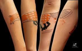 Méně Je Někdy Více Minimalistická Tetování Nadané Umělkyně