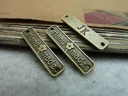 Diy Clothing Label Lychee Life 50pcs Vintage Handmade Labels Metal Letter