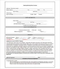 Example Of Catering Contract 16 Sample Catering Contract Templates Docs Pages Word