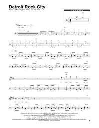drums sheet music detroit rock city sheet music by kiss drums transcription 174259