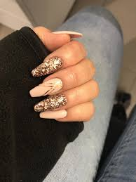 Nude Nails Glitter Ballerina Sparkle Acrylicnails Nehty V Roce