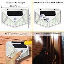 4pcs <b>100LED Solar Light</b> Outdoor Solar Lamp PIR Motion Sensor ...